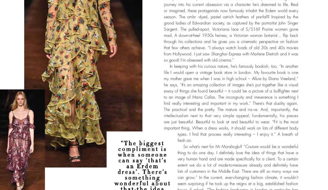 The Dreamweaver | Erdem Interview | Emirates Woman
