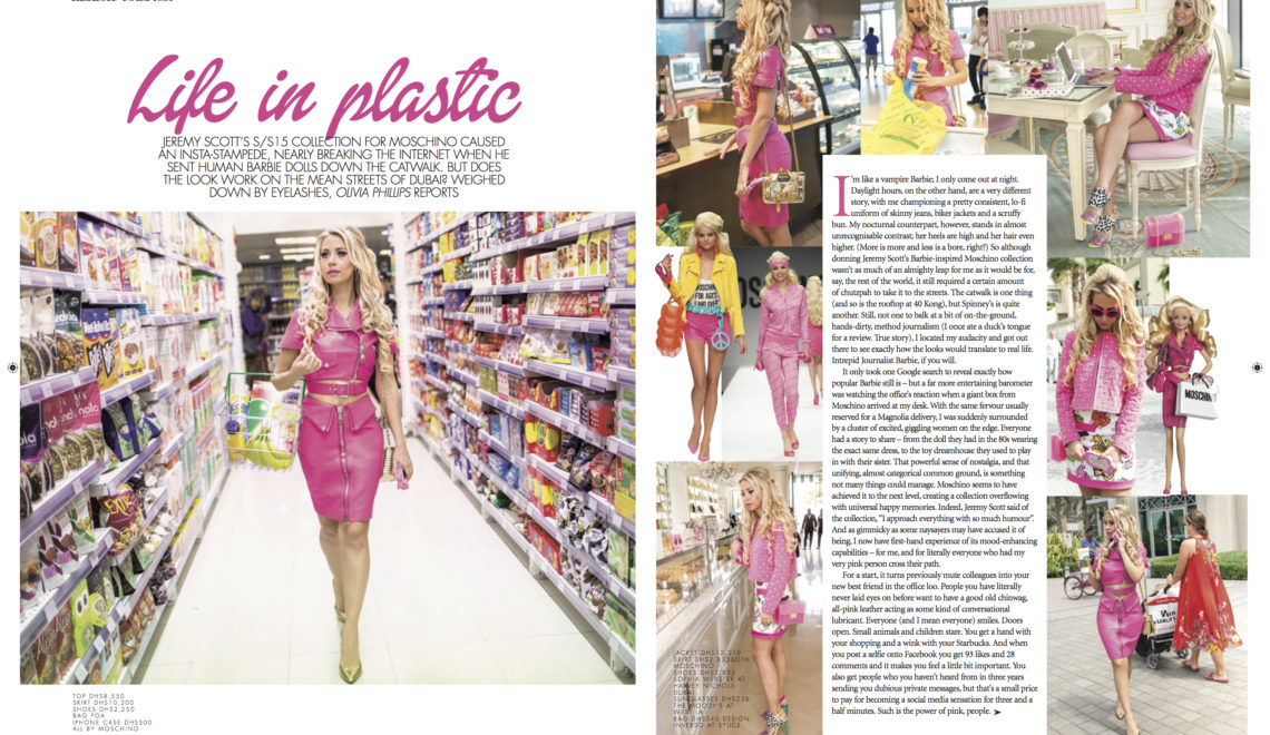 Life In Plastic | Moschino Barbie Road Test | Emirates Woman