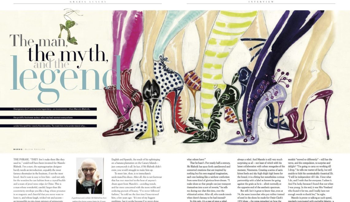 The man, the myth, and the legend | Manolo Blahnik Interview | Grazia Luxury