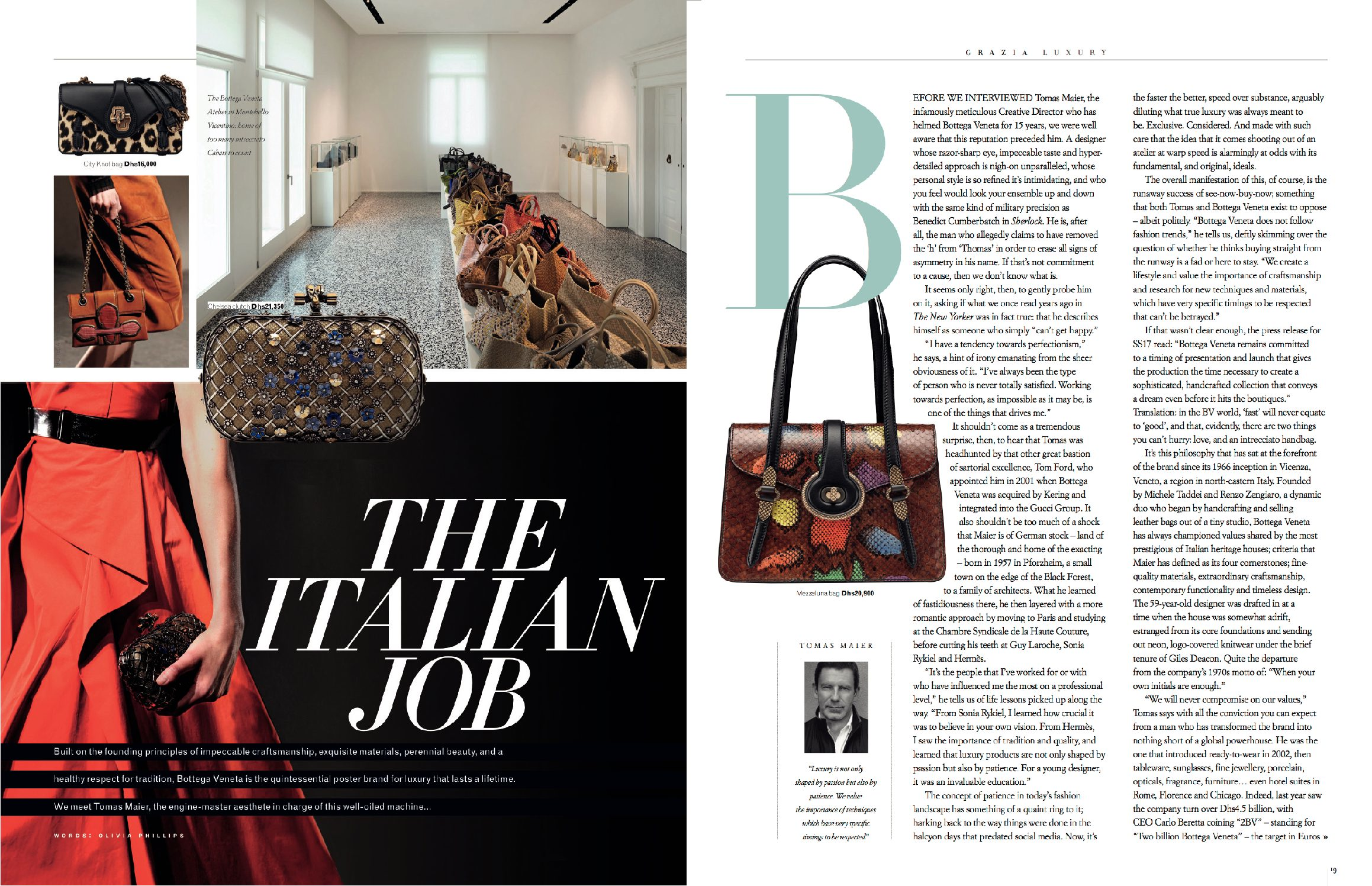 The Italian Job | Tomas Maier Bottega Veneta Interview | Grazia Luxury