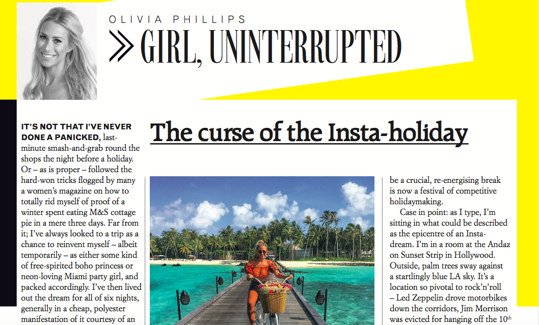 The curse of the Insta-holiday | Grazia